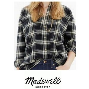 Madewell Flannel  long sleeve botton down size m